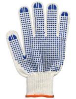Хлопчатобумажные перчатки рабочие с ПВХ10шт/упак Волна