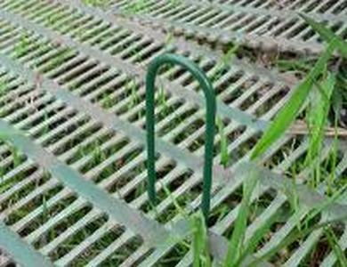 U - образная скоба для вертикально крепления 3мм*15см Зеленая