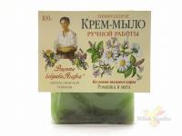 РБА Крем-мыло Ромашка и мята 100гр/16шт/2634