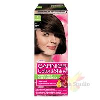 Краска для волос Гарнье Колор Шайн 4.0 Каштановый/3 шт./2853911/