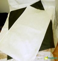 Хозяйственный мешок белый с завязками
