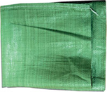 Мешки для строительного мусора плетеные зеленые 50х90см