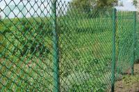 Пластиковая сетка для забора  18*18мм 1,6*15м зеленая