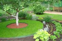 Лента бордюрная садовая 15СМ, 10М коричневая