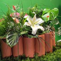 Декоративный бордюр садовый 1,6М коричневый