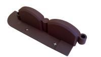 Декоративный бордюр для клумбы пластиковый 2,56М коричневый