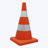 Конус дорожный 520мм оранжевый с 2 светоотражающими полосами