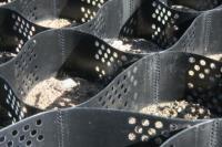 Пластиковая георешетка 2,95*7,3М черная, высота 20 см