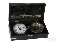 Сувенир настольный: часы и компас 22*11*7см (уп.1/12шт.)