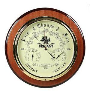 "Барометр-метеостанция настольная ""BRIGANT"": барометр, термометр, гигрометр 16*33см (уп.1/20шт.)"