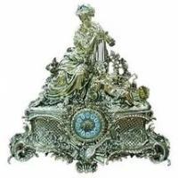 Часы каминные, бронза 60см (уп.1/1шт.)