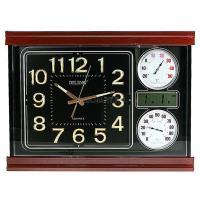 Часы настенные: календарь, термометр, электрон. часы 59*44см (уп.1/6шт.)