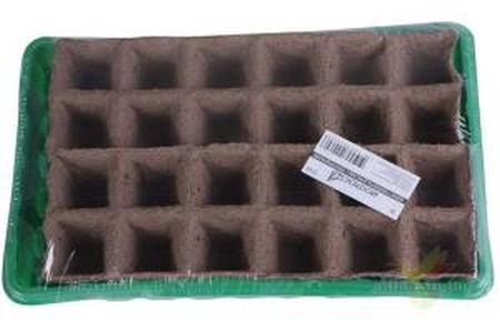 Набор для выращивания рассады с торфяными горшочками 50*50мм 24шт. + лоток
