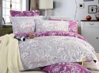 Семейный Комплект постельного белья пододеяльник 150*220 - 2 шт простыня 220*240, наволочка 50*70 -