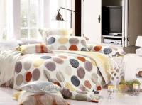 Двухспальный Комплект постельного белья пододеяльник 180*220 простыня 200*221, наволочка 70*70 - 2шт