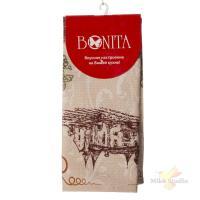 Полотенце 44*59 Bonita, вафельное, Бордо Помроль