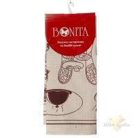 Полотенце 44*59 Bonita, вафельное, Бордо Боннет