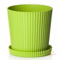 Горшок цветочный с поддоном Триумф 1,2 л (зеленый)