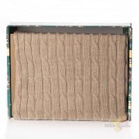 Плед 140*180 Tiffany's secret, трикотажной вязки, Косичка, Маккиато