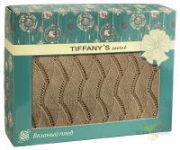 Плед 140*180 Tiffany's secret, трикотажной вязки, Косичка, Медовый Латте
