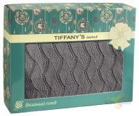 Плед 140*180 Tiffany's secret, трикотажной вязки, Косичка, Ристретто