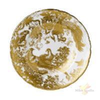 Тарелка мелкая «Голд Эйвз»; фарфор; D=16см; белый