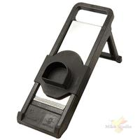 Мандолина +нож; пластик,сталь нерж.; H=13,L=41,B=14см; черный,металлич.