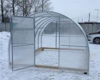 Каркас теплицы Урожай Сотка 4м без поликарбоната