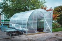 Каркас теплицы Урожай Абсолют 6м без поликарбоната