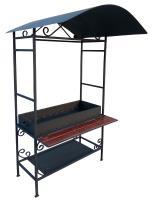 Мангал с крышей и столиком ММ-10