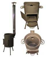 Печь с двойной стенкой и дымоходом для казанов 16 и 25 л. МО-25