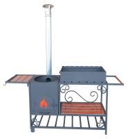 Мангал дачный  с печью под казан 8-12 л. ММ-22П