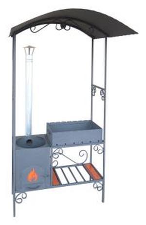 Мангал дачный  с печью под казан 8-12 л. ММ-18П
