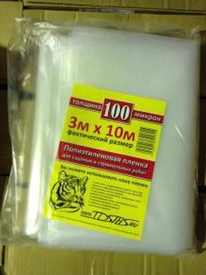 Пленка полиэтиленовая нарезка 3х10м (100мкм) TDSTELS