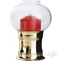 Светильник масляный «Студио»; сталь,стекло; D=11.7,H=16.2см; золотой,красный