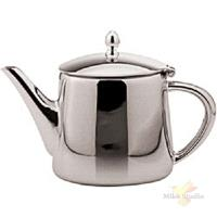 Чайник; сталь нерж.; 700мл; H=15.7,L=20.5,B=10.5см; металлич.