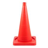 Конус дорожный КС-2.2.1 520мм упругий без полос квадрат. основа  (Оранжевый)
