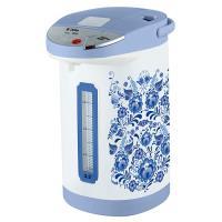 Чайник-термос DЕLTA DL-3033 белый с голуб./гжель (6): 1000 Вт, 3,5 л (РОССИЯ)