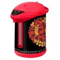 Чайник-термос ВАСИЛИСА ТП6-820 РЯБИНА (6): 820Вт, 2,8л, внутр. емкость нерж., черный/красн.(Россия)