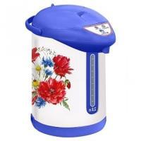 Чайник-термос ВАСИЛИСА ТП7-820 ''Полевые цветы''(6): 820Вт, 2,8л, белый с гол.(Россия)