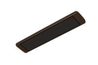 Обогреватель инфракрасный Алмак ИК 5 W  (500 Вт, 5-10 м2, 730х160х30 мм, 1.6 кг) венге