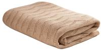 Плед 140*180 Tiffany's secret, трикотажной вязки, Ажур, Маккиато