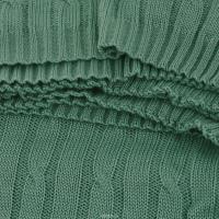 Плед 140*180 Tiffany's secret, трикотажной вязки, Ажур, Мятный Мокка