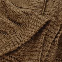 Плед 140*180 Tiffany's secret, трикотажной вязки, Ажур, Медовый Латте
