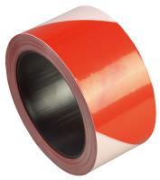 Лента оградительная ЛО-500 Стандарт 500п.м, 75мм, 50мкм красно-белая