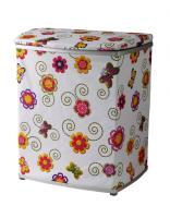 Корзина для белья 32*47*55 см (цветы)