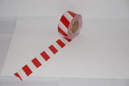 Лента оградительная ЛО-250 Стандарт 250п.м. 75мм 40мкм красно-белая