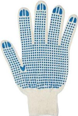 Перчатки тканевые х/б с пвх Точка 10шт/упак