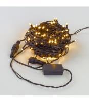 Светодиодные гирлянды НИТЬ черный PVC провод, IP44, 230ВBS100-10-230-WW-B20F