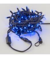 Светодиодная гирлянда НИТЬ влагозащищенная черный резиновый провод, ip54 LED-RUB100-10-220-B-B